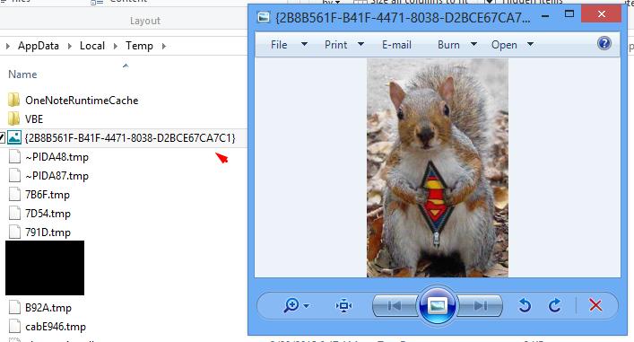 Microsoft Onenote Caches Image