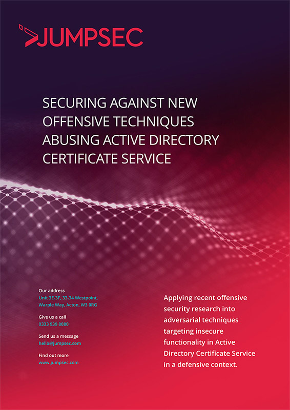 Active Directory Certificate Service Defensive Guidance