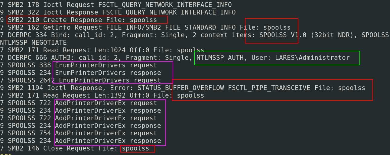 network activity nestled under SMB
